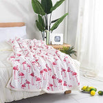 RHF Flamingo Pattern Thick Fleece Throw Blanket, Flamingo Gifts