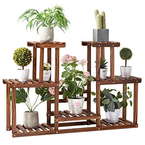 Rose Home Fashion Solid Pine Wood Plant Stand, Plant Stands Indoor, Outdoor Plant Stand, Plant Shelf, Plant Stands, Antirust Screws, Overall Size: 43x24 Inch