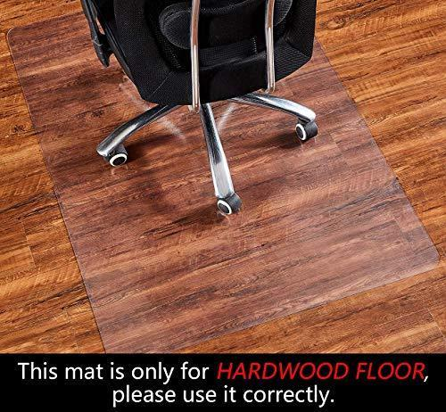 2mm Thick Office Chair Mat for Hardwood Floor, Floor Protectors for Office Chairs