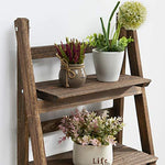 "RHF 44"" Foldable Plant Shelf,Plant Stand,Indoor Flower Pot Holder,Flower Pot Ladder,Folding A Frame Display Shelf,Patio Rustic Wood Stand with Shelves,4 Tier Stand Outdoor,Pot Rack, Free Standing"