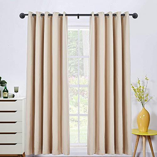 1 Inch Industrial Black Outdoor Rustic Room Divider Curtain Rod