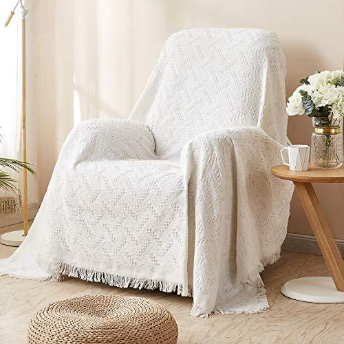 Rose Home Fashion RHF Recliner Chair Cover, Recliner Cover, Couch Cover for Recliner Furniture Protector with Tassels