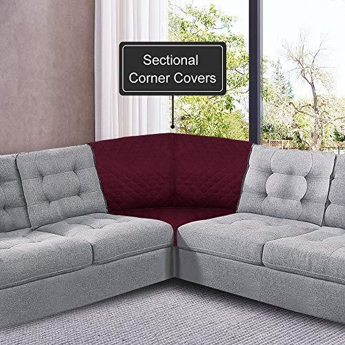 Rose Home Fashion Reversible Sectional Corner Couch Covers, 30 Inchx30 Inch