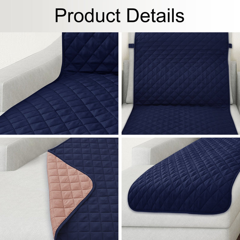 Rose Home Fashion Reversible Chaise Lounge Cover, Furniture Protector