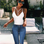 Summer 2020 Sexy party tops Backless Hollow Out Fitness Sleeveless Short Crop Tops Camisoles streetwear black lace up Crop Tops