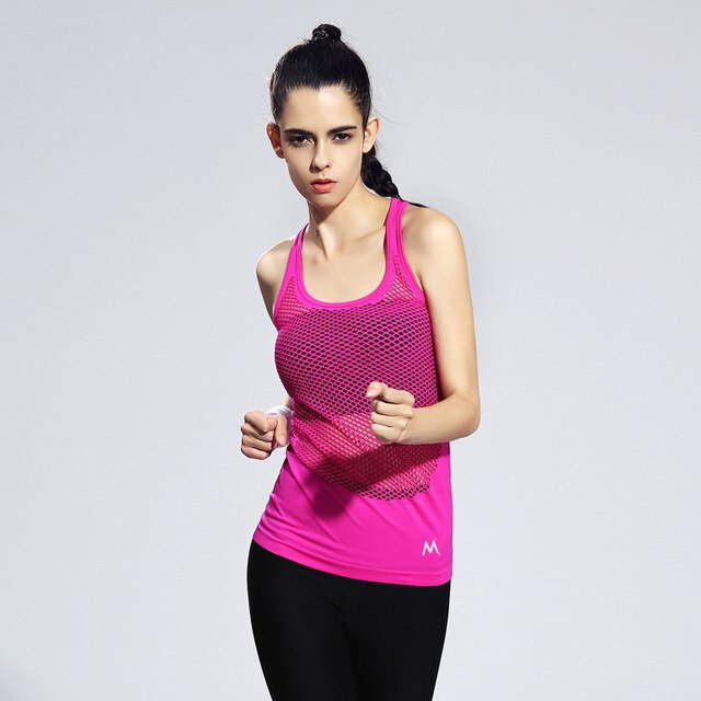 Women Sport Vest Slim Skinny Yoga Shirts Quick Dry Running Training Fitness T-shirts Backless Dance Tank Tops Workout Gym Blouse