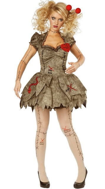 Wedding Ghost Bride Cosplay Voodoo Doll Costumes Halloween Costumes For Women Adult Anime Cosplay Girls Vampire