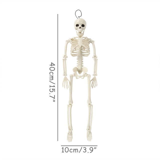 40cm human-skeleton fake skull and bones halloween figma toys gift for kids halloween decoration home skele boys children supply