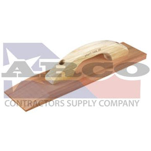 "18"" x 3-1/2"" Beveled Redwood Hand Float with Wood Handle"