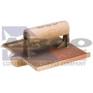 "CF303 6"" x 4-1/2"" 1/4""R 1/2""D Large Bit Bronze Groover with Wood Handle"