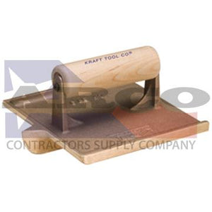 "CF304 6"" x 4-1/2"" 3/8""R, 3/4""D Big Bit Bronze Groover with Wood Handle"