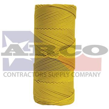 BC345 Yellow Braided Nylon Mason's Line - 1000' Tube