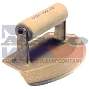 "CF384 18"" Diameter Chamfer Tube Bronze Edger with Wood Handle"