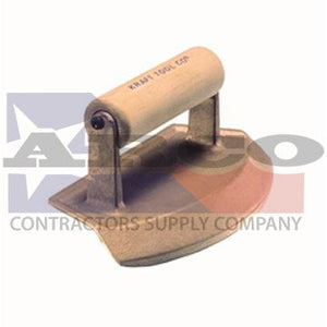 "CF385 24"" Diameter Chamfer Tube Bronze Edger with Wood Handle"