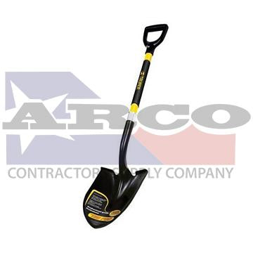 Truper D-Handle Round Point Shovel with Fiberglass Handle
