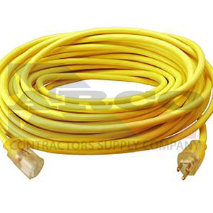 12/3 SJTW High Visibility Extension Cord with Lighted Ends, 100-Foot.