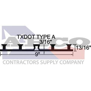 "TXDOT Type A 9"" Base Seal Waterstop - Sold by the Foot"