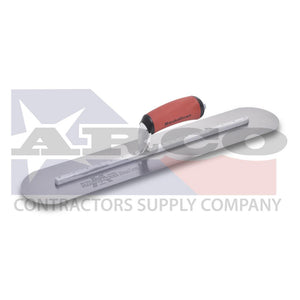 "MXS81FRD 18x4"" Finishing Trowel Fully Rounded Curved DuraSoft Handle"