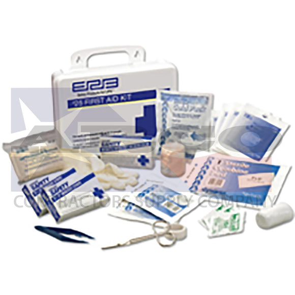 ANSI 25 Piece First Aid Kit with Eye Wash