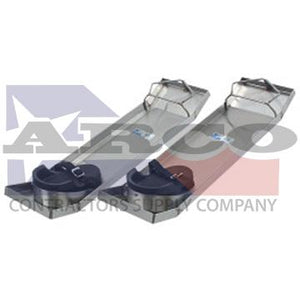 "CC162 28"" x 8"" Lightweight Stainless Steel Knee Boards (Pair)"