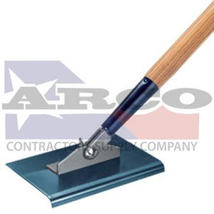 "CC387 9"" x 8"" 1/2"" R 2-Way Blue Steel Walking Edger with Handle"