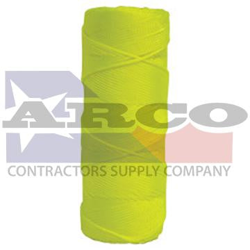 BC359 Braided Fluorescent Yellow Twine - 1,000 Foot Tube