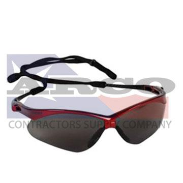 V30 Nemisis Red Safety Glasses With Smoke Hard Coat Lens
