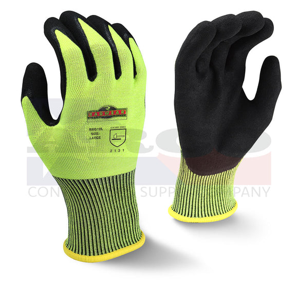 RWG10 Silver Series High-Vis Knit Dip Gloves