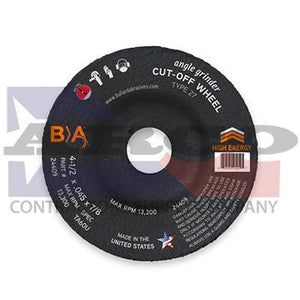 "T27 4-1/2""x1/4""x5/8-11"" Hubbed Grinding Disc"