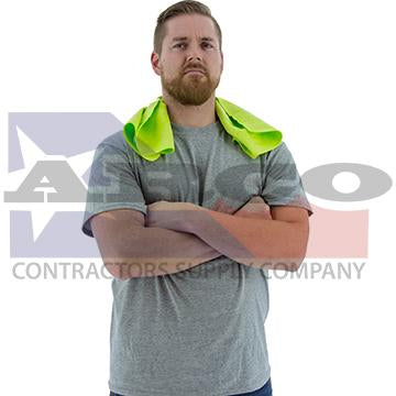 Hi-Vis Yellow Cooling Towel