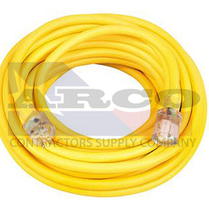 10/3 SJTW High Visibility Extension Cord with Lighted Ends, 100-Foot
