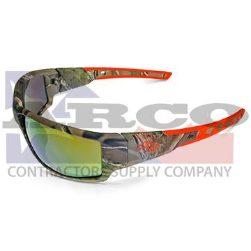 Cumulus Camo Glasses with Gold Mirror Lens