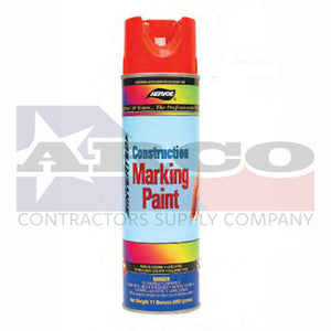 Aervoe Fluorescent Red Orange Construction Marking Paint 17oz.