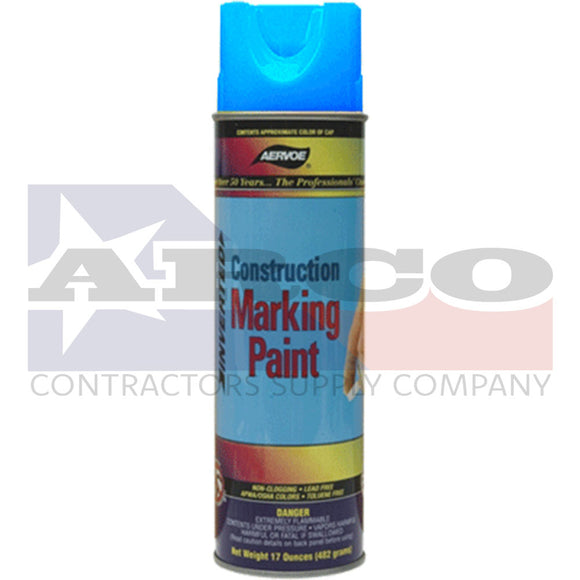Aervoe Fluorescent Blue Construction Marking Paint 17oz.