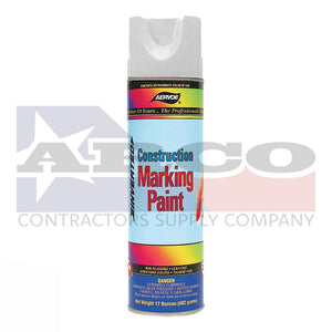 Aervoe White Construction Marking Paint 17oz.