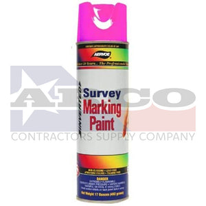 Survey Fluorescent Pink Inverted Marking Paint 17oz.