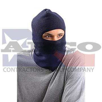 Blue Knit Lined Face Cap