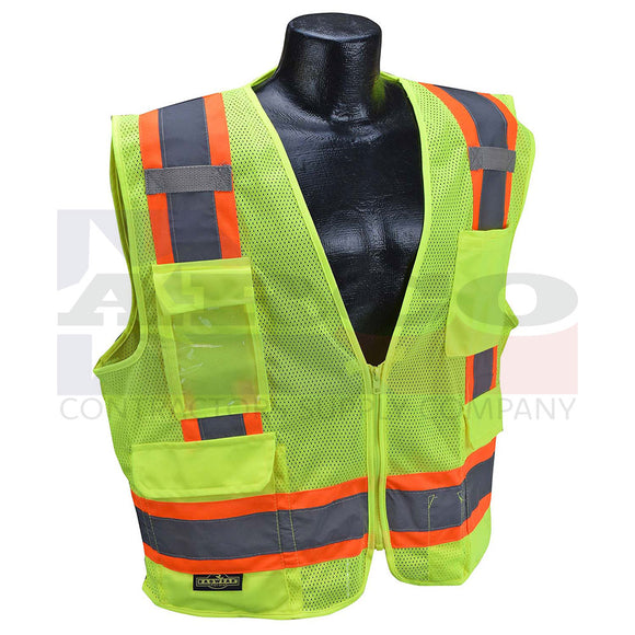 Rad SV6 Two Tone Surveyor Type R Class 2 Solid/Mesh Vest