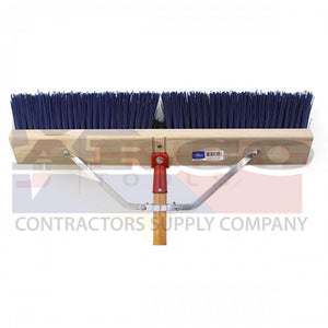 "6424 24"" Blue Plastic Broom"
