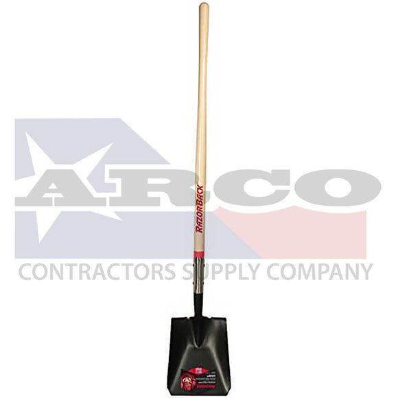 44124 Razor-Back Square Point Shovel with 48 in. Ash Handle