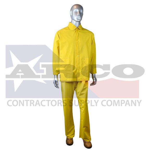3 Piece Rain Suit Yellow - Size XL