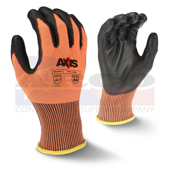 RWG557 Orange Cut Protection Level A4  Glove