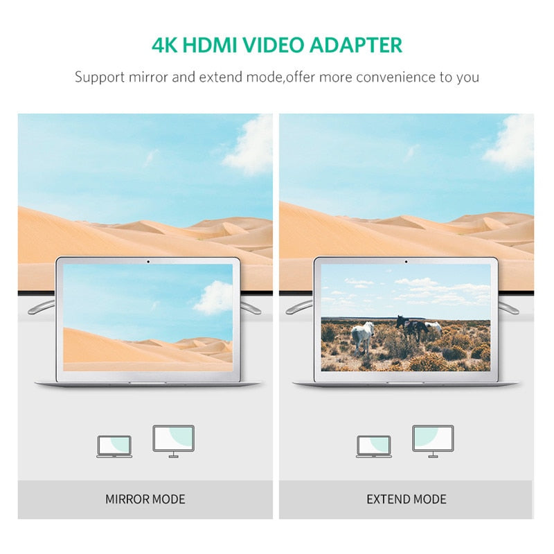 Ugreen HDMI Splitter 4K HDMI Video Audio Adapter Optical Toslink SPDIF to  HDMI Converter 3 5mm Jack for PS4 HDMI Audio Extractor