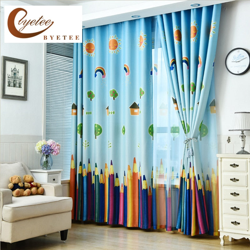 Curtains Blackout, Fabric Pencil Pattern