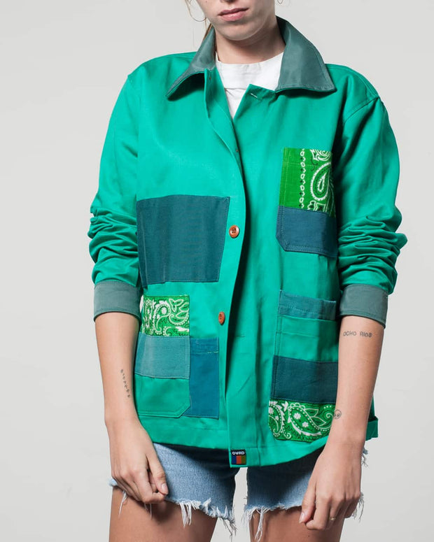 Overlord Upcycling Vintage | Green Rework Bandana Jacket
