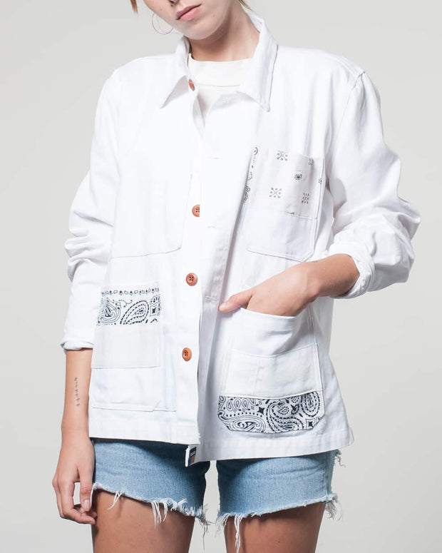 White Rework Bandana Jacket