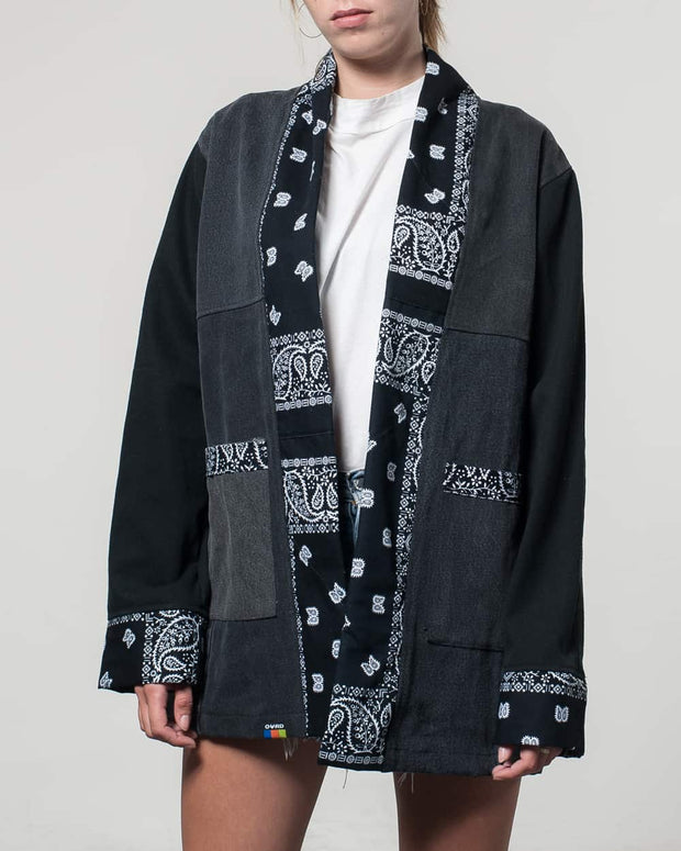 Noragi Black Denim Patchwork Bandana