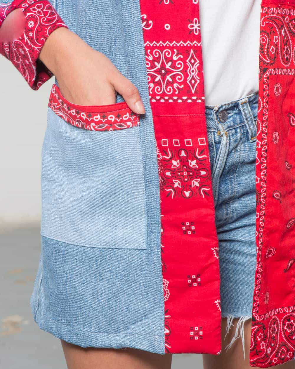 Overlord Upcycling Vintage | Noragi Light Vintage Denim • Patchwork Red Bandana