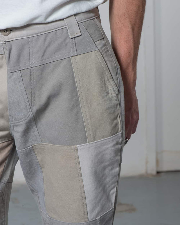 Overlord Upcycling Vintage | Beige Patchwork Pants Chino