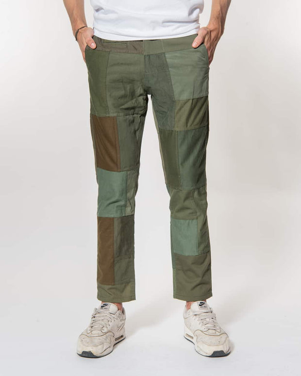 Overlord Upcycling Vintage | Green Patchwork Pants Chino